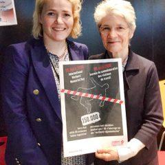 Vuoden mittaa on tehty tiivistä yhteistyötä eurooppalaisen ammattiyhdistysliikkeen kanssa. Kuvassa kanssani EAY:n pääsihteeri Bernadette Ségol.