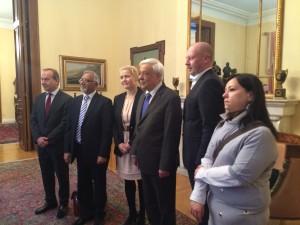 Miapetra, delegaatio ja Kreikan presidentti