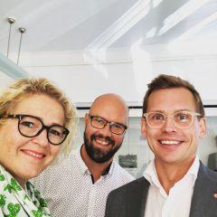Puoluesihteeri ja Vaasan kaupunginhallituksen puheenjohtaja Kim Berg starttaamassa mepinkin 5. vuotta.